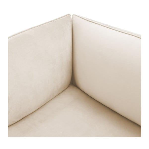 Šedokrémová třímístná modulová pohovka s podnožkou Vivonita Velvet Cube