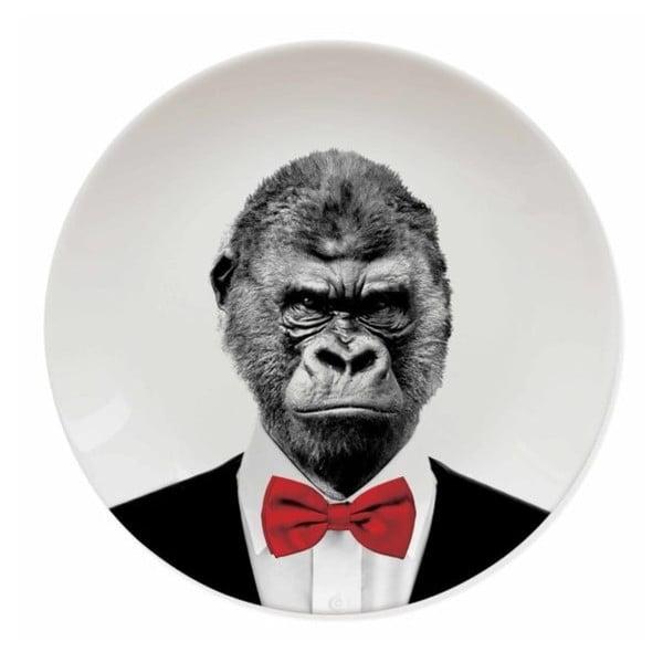 Gorilla kerámia tányér - Just Mustard