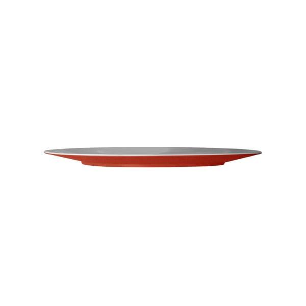 Červený servírovací talíř Entity, 35.5 cm