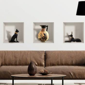 Set 3 autocolante 3D pentru perete Ambiance Egyptian imagine