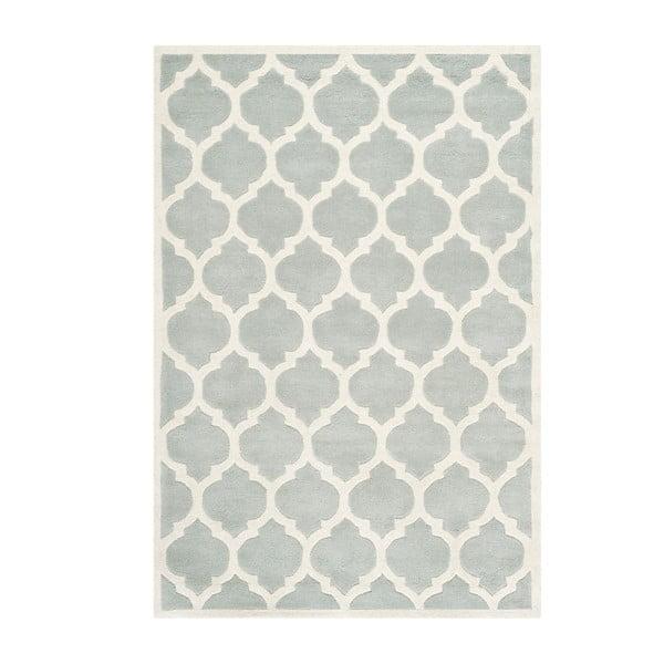 Szary wełniany dywan Safavieh Camilla, 182x121 cm