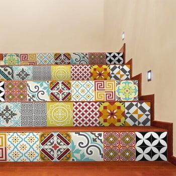 Set 2 autocolante pentru scări Ambiance Mosaic, 15 x 105 cm