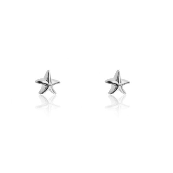 Dámské náušnice z nerezové oceli stříbrné barvy Emily Westwood Star