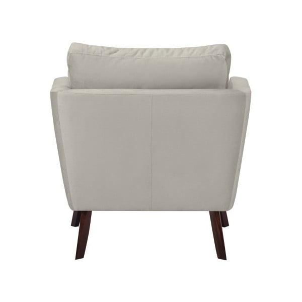 Světle šedé křeslo Mazzini Sofas Cotton