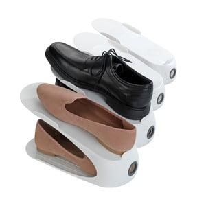 Bílý stojan na 2 páry bot Wenko Smart
