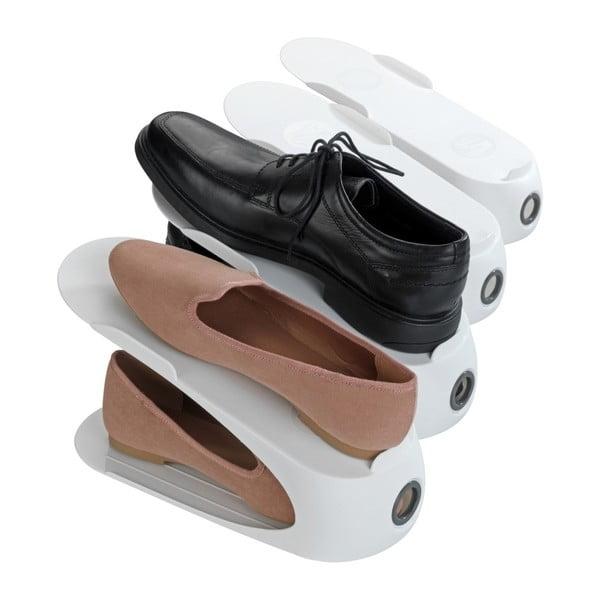 Bílý stojan na 4 páry bot Wenko Smart
