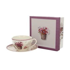 Porcelánový hrnek s podšálkem Duo Gift Mia, 250 ml