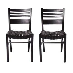 Sada 2 židlí Kyoto Black