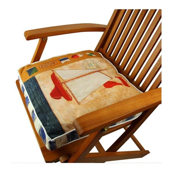 Pernă pentru scaun Gravel Boat, 42x42cm,cuumplutură