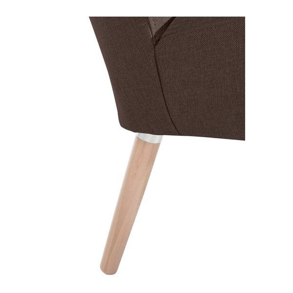 Tmavě hnědé křeslo Max Winzer Neele Chocolate
