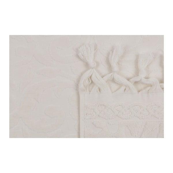 Sada dvou bílých ručníků Bohème, 90x50cm