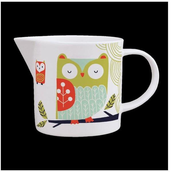 Džbánek z kostního porcelánu Folkland Barn Owl