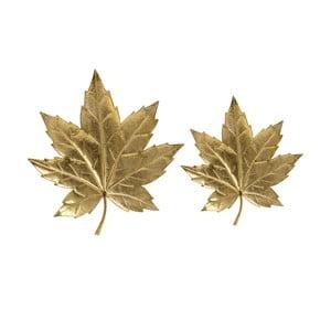 Sada 2 dekorativních kovových podnosů InArt Golden Maple