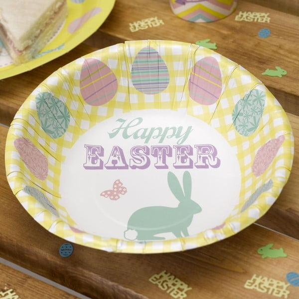 Sada 8 papírových mís Neviti Happy Easter