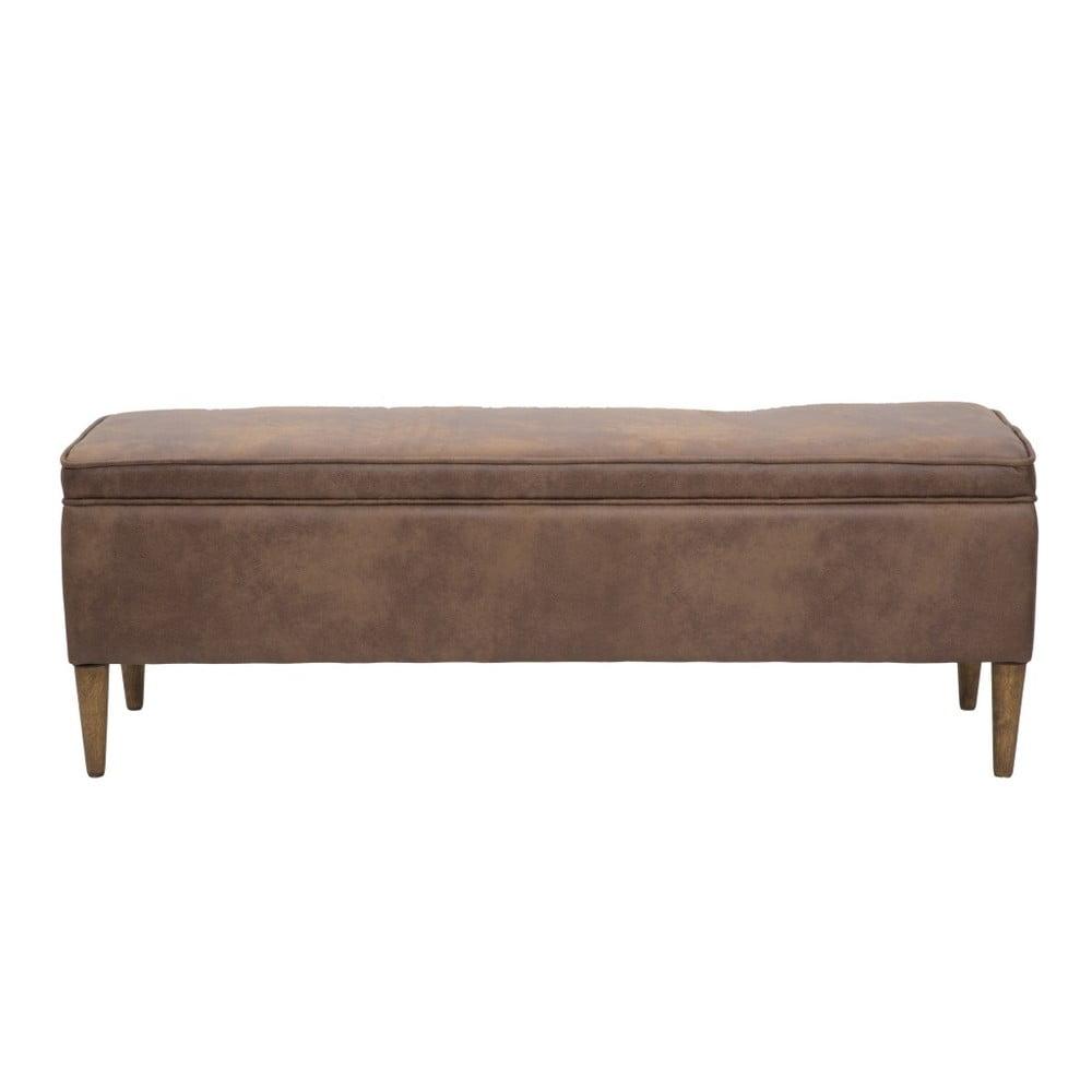 Hnědá lavice s úložným prostorem Mauro Ferretti Texas