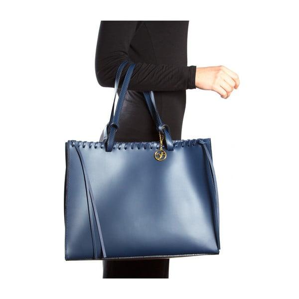 Kožená kabelka Felicia, modrá