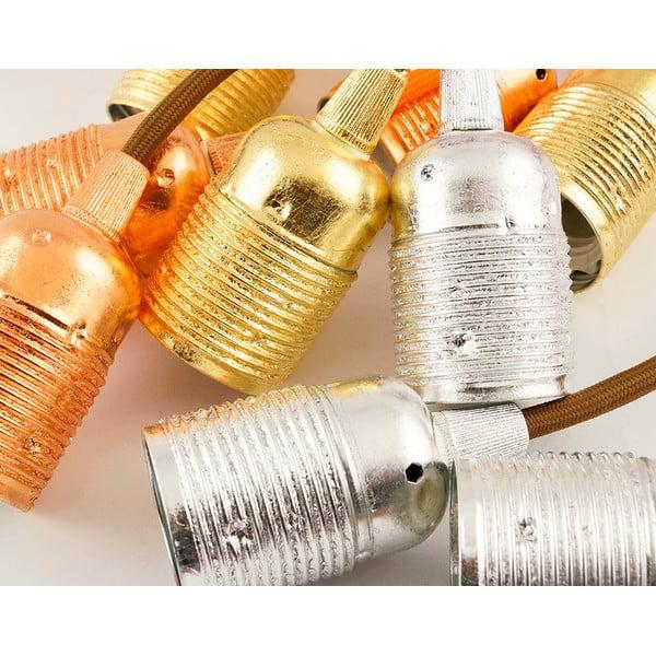 Pět závěsných kabelů Uno, zlatá/černobílá/bílá