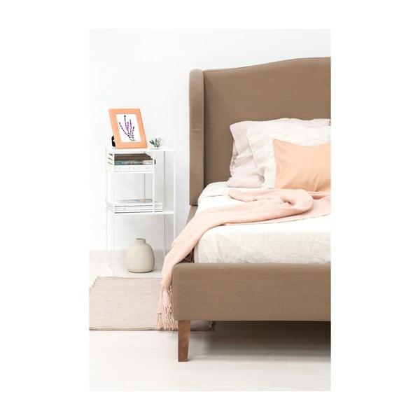 Postel ve velbloudí hnědé barvě Vivonita Windsor Linen, 200x140cm