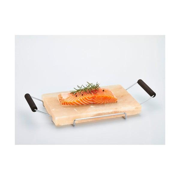 Salt Plate tálaló kősó lappal, 22 x 45 cm - Bisetti