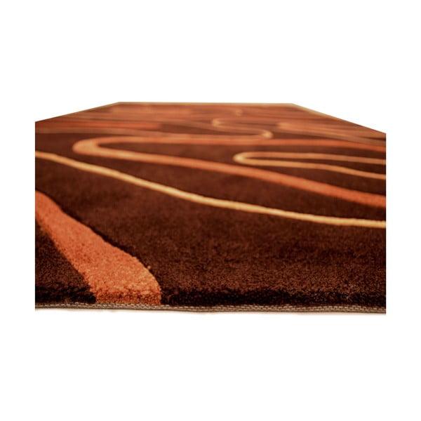Ručně tkaný koberec Phoenix, 140x200 cm, čokoládový