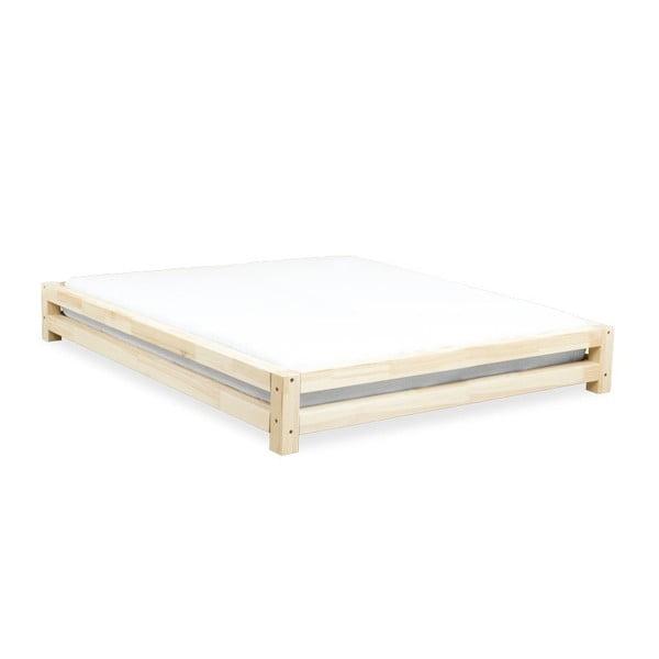 Łóżko 2-osobowe z lakierowanego drewna świerkowego Benlemi JAPA, 200x200 cm