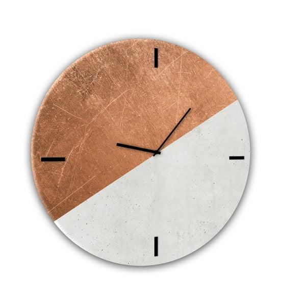 Ceas de perete din sticlă Styler Half Coper