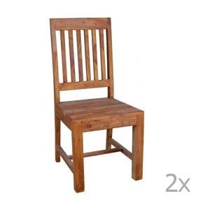 Set 2 scaune din lemn de palisandru Massive Home Dina