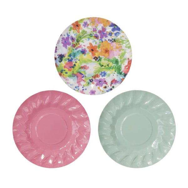 Sada 12 papírových talířků Mini Canape
