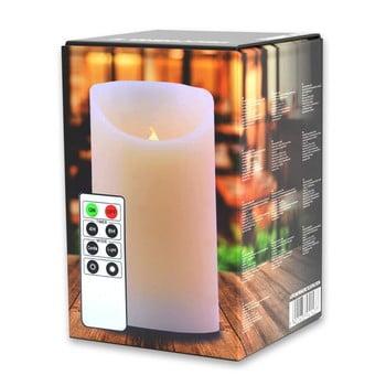 Lumânare luminoasă cu telecomandă DecoKing Subtle Love, înălțime 12.5 cm