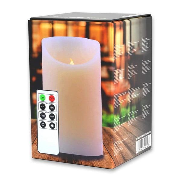 Světelná svíčka s dálkovým ovladačem DecoKing Subtle Love, výška 12,5 cm