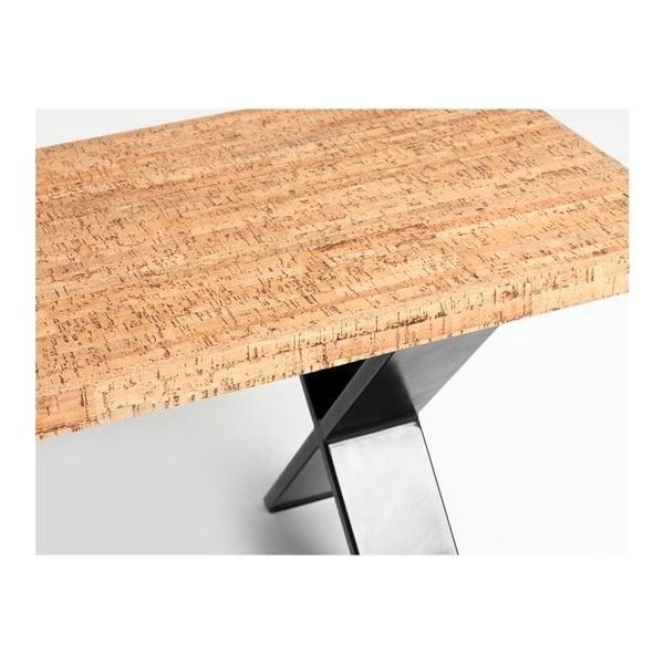 Lavice z dubového dřeva Custom Form Cross, délka 160 cm