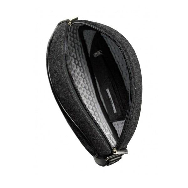 Plstěná vyšívaná kabelka Destiny s koženým popruhem
