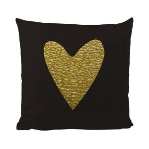 Polštář Black Shake Precious Heart, 50x50 cm