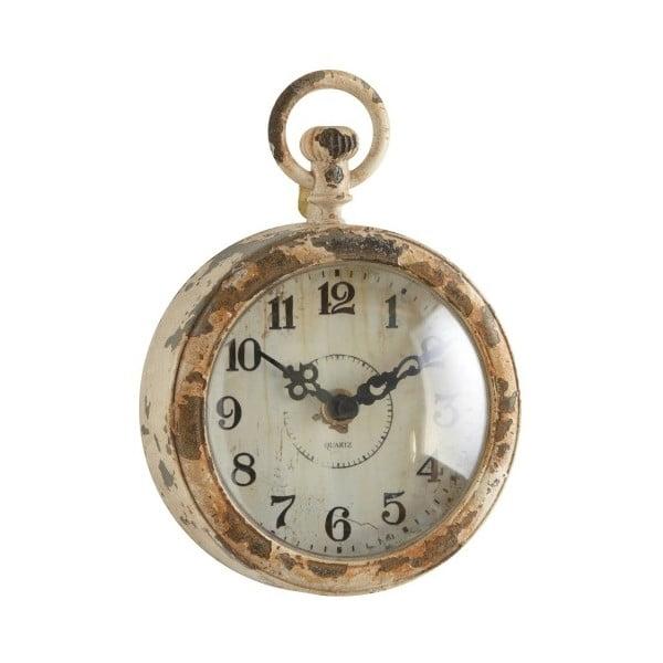 Kovové hodiny, antique cream, 17x12 cm
