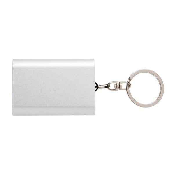 Kompaktní powerbanka na klíče ve stříbrné barvě XDDesign