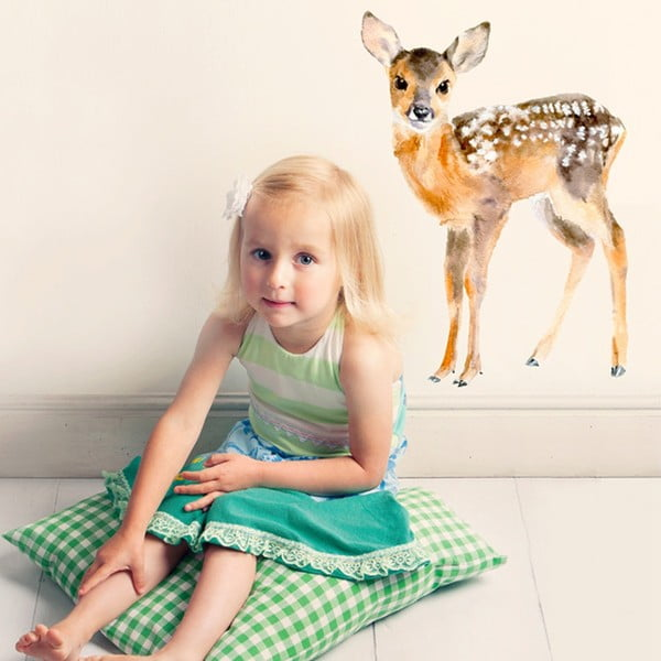 Autocolant refolosibil Baby Deer, 40x30 cm