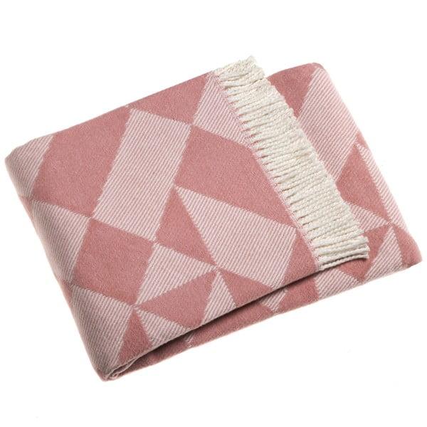 Růžová deka Euromant Milano, 140x180cm