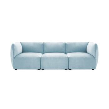 Canapea modulară cu 3 locuri Vivonita Velvet Cube, albastrul cerului de la Vivonita