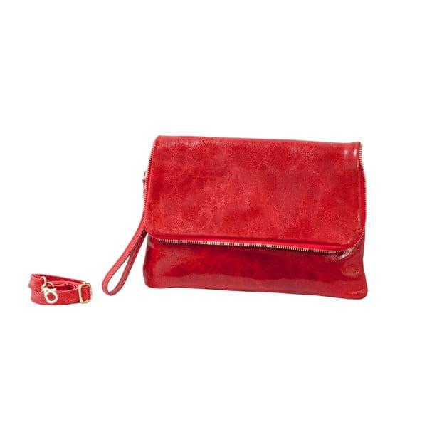 Červená kabelka z pravé kůže Andrea Cardone Alessia