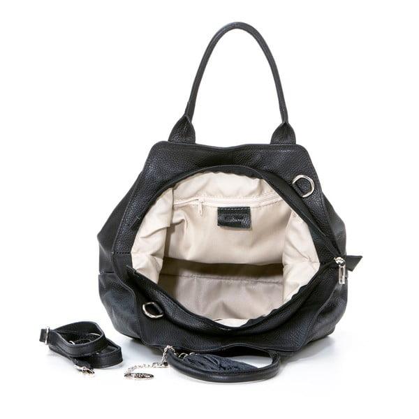 Kožená kabelka Pietro, černá