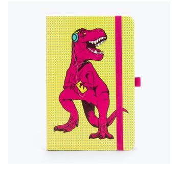 Agendă Just Mustard T-Rex, galben-roz, 190 file imagine
