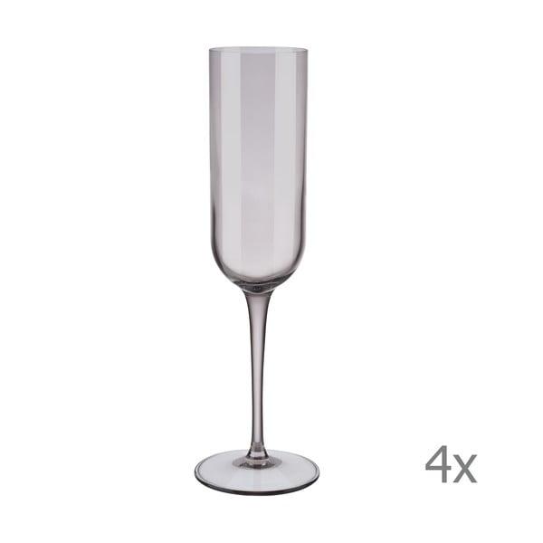 Sada 4 fialových pohárov na šampanské Blomus Mira, 210 ml