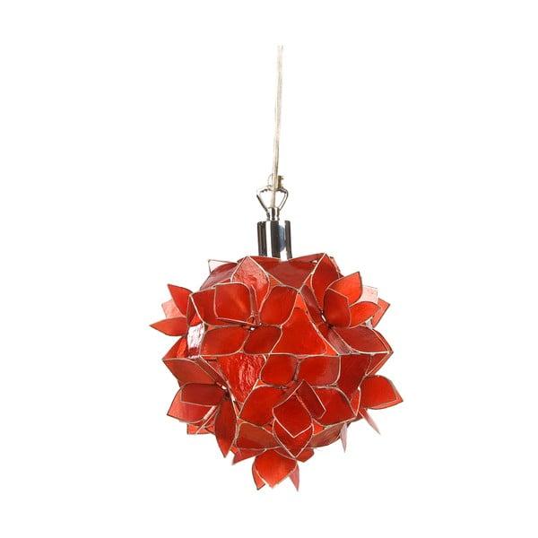 Perleťové závěsné světlo Small Lotus, červené