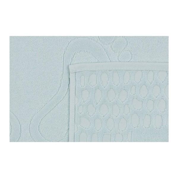 Světle modrá koupelnová předložka Pastela, 70x 50cm