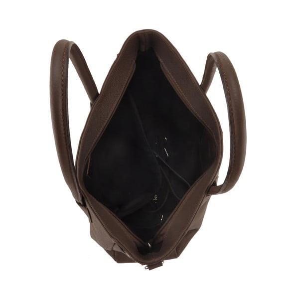 Kožená kabelka Emilio Masi Baiten, hnědá