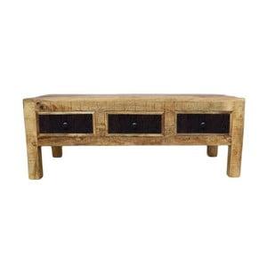Konferenční stolek z masivního mangového dřeva Massive Home Bella, délka120cm