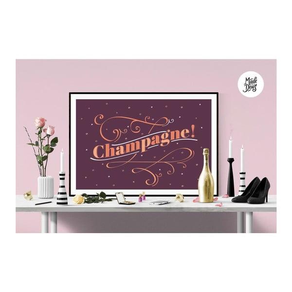Plakát Champagne! Burgundy, A2