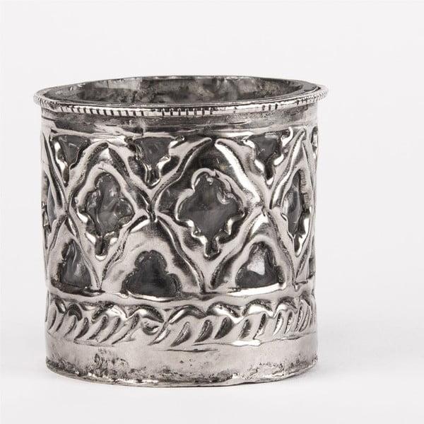 Svícen na čajovou svíčku Tepaný kov