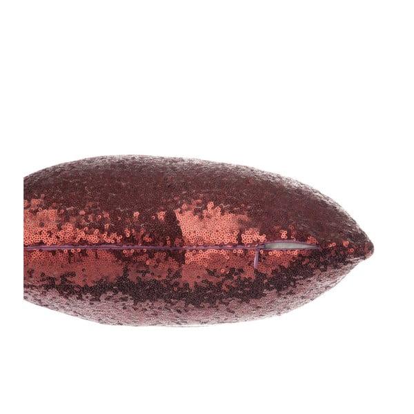 Červený třpytivý polštář J-Line