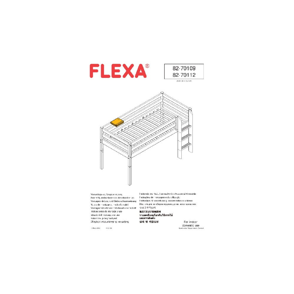 Produktové foto Bílý závěsný držák na tablet k dětské posteli Flexa Classic